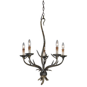 Monterey Autumn Patina Five-Light Chandelier