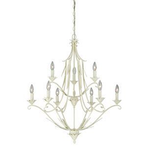 Austen Gilded Patina Nine-Light Chandelier