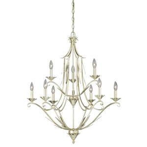 Austen Silver Leaf Nine-Light Chandelier