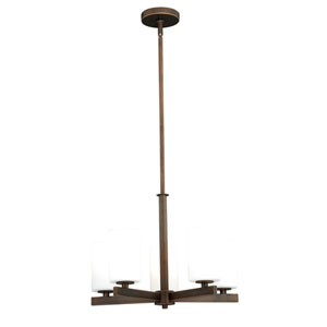 Glendale Sienna Bronze Five-Light Chandelier