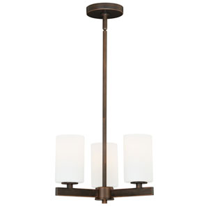 Glendale Sienna Bronze Three-Light Chandelier