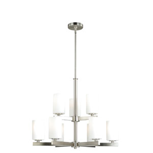 Glendale Satin Nickel Nine-Light Chandelier