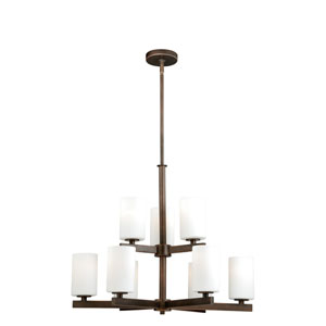 Glendale Sienna Bronze Nine-Light Chandelier