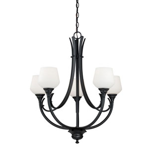 Grafton Oil Rubbed Bronze Five-Light Chandelier