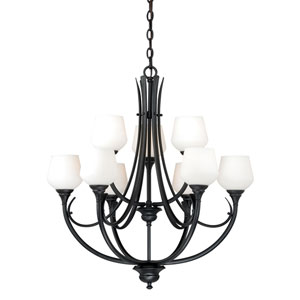 Grafton Oil Rubbed Bronze Nine-Light Chandelier