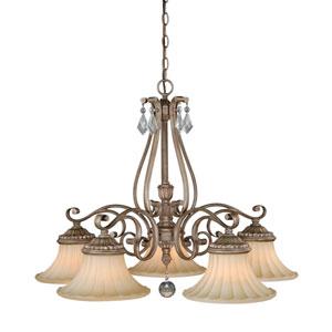 Avenant French Bronze Five-Light Chandelier