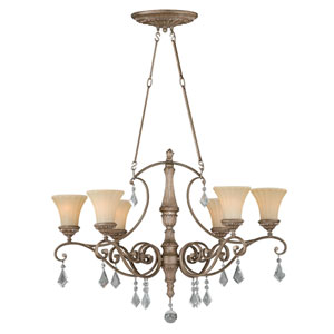 Avenant French Bronze 36.5-Inch Six-Light Chandelier