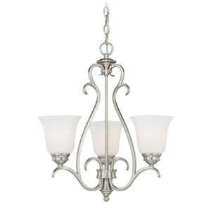 Hartford Satin Nickel Three-Light Mini Chandelier