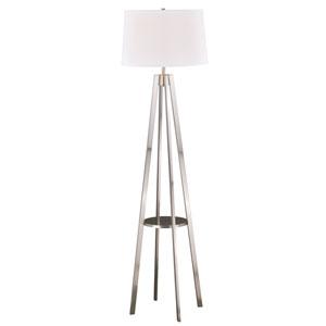 Perkins Satin Nickel One-Light Floor Lamp