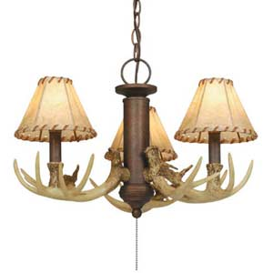 Antler Three-Light Chandelier