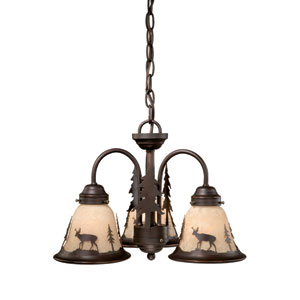 Bryce Burnished Bronze Three-Light Light Kit
