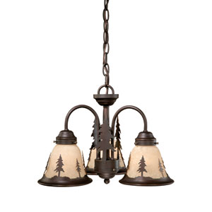 Yosemite Burnished Bronze Three-Light Light Kit