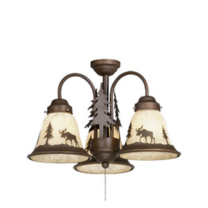 Yellowstone Burnished Bronze Three-Light Light Kit