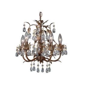 Helenic Patina Five-Light Mini Chandelier