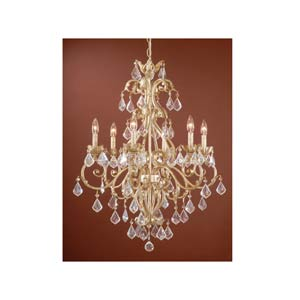 Newcastle Gilded White Gold Six-Light Chandelier