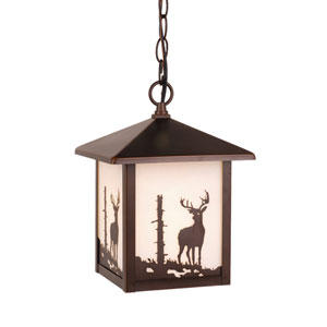 Bryce Burnished Bronze Outdoor Pendant