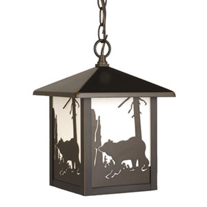 Bozeman Burnished Bronze Outdoor Pendant