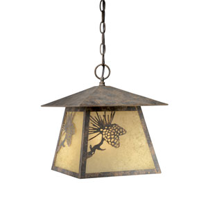 Whitebark Olde World Patina Outdoor Pendant
