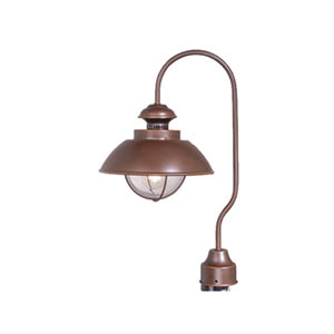 Harwich Burnished Bronze Outdoor Post Light