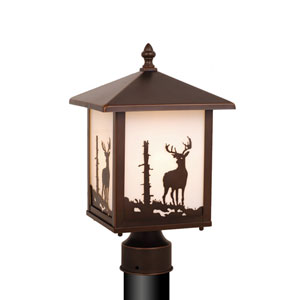 Bryce Burnished Bronze Outdoor Post Light