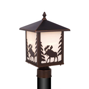 Yellowstone Burnished Bronze Outdoor Post Light