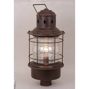 Nautical Burnished Bronze Outdoor Post Mounted Light