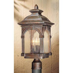 Essex Royal Bronze Outdoor Post Mounted Light