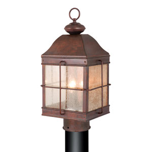 Revere Royal Bronze Three-Light 10-Inch Outdoor Post Light