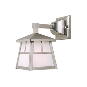 Mission Stainless Steel 6-Inch Outdoor Wall Light