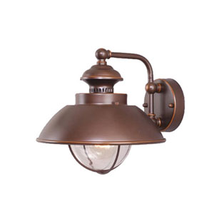 Harwich Burnished Bronze 10-Inch Outdoor Wall Light