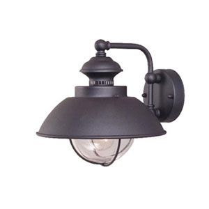 Harwich Textured Black 10-Inch Outdoor Wall Light