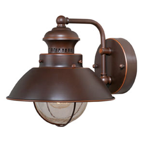 Harwich Burnished Bronze 8-Inch Outdoor Wall Light