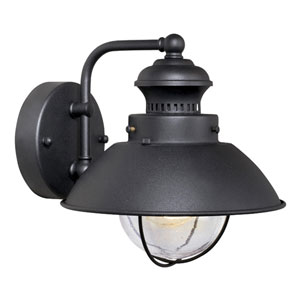 Harwich Textured Black 8-Inch Outdoor Wall Light