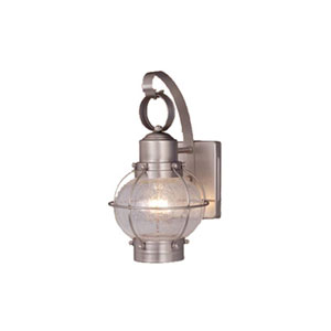 Chatham Brushed Nickel 7-Inch Outdoor Wall Light