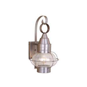Chatham Brushed Nickel 10-Inch Outdoor Wall Light