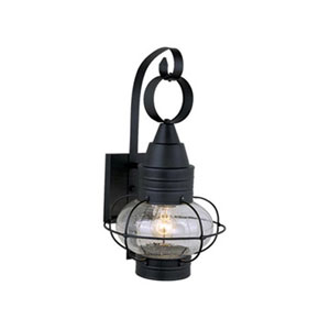 Chatham Textured Black 10-Inch Outdoor Wall Light