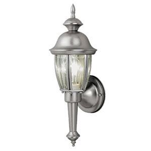 Capitol Brushed Nickel 6-Inch Outdoor Wall Light