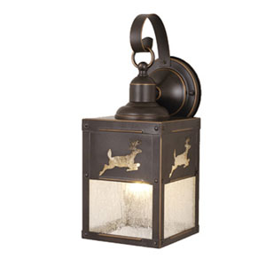 Bryce Burnished Bronze 5-Inch Outdoor Wall Light