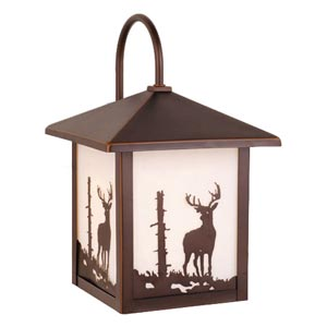 Wildlife Buck Outdoor Wall-Mounted Lantern