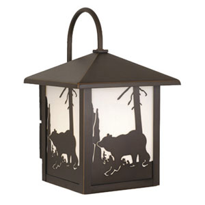 Bozeman Burnished Bronze 8-Inch Outdoor Wall Light