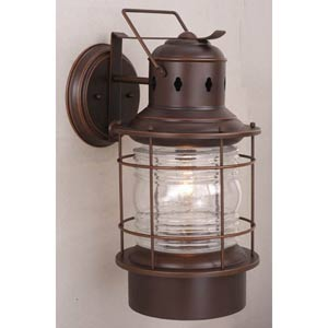 Nautical Burnished Bronze Outdoor Wall Light