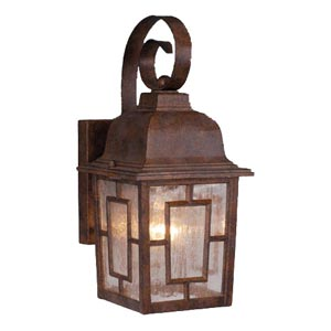 Vista Royal Bronze Outdoor Wall-Mounted Lantern