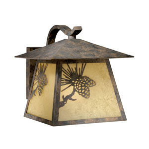 Whitebark Olde World Patina Outdoor Wall Light