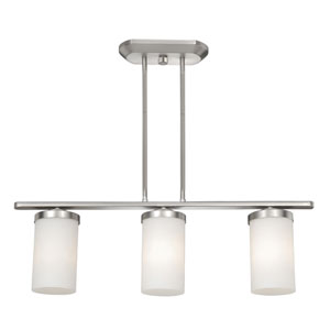 Oxford Brushed Nickel Three-Light Pendant