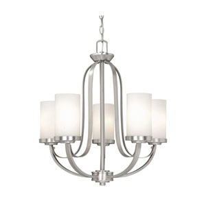 Oxford Brushed Nickel Five-Light Chandelier