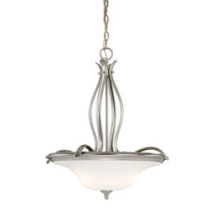 Sonora Three-Light Satin Nickel Pendant