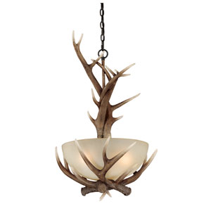 Yoho Three-Light Black Walnut Pendant