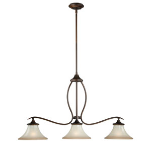 Sonora Three-Light Venetian Bronze Mini Pendant