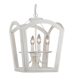 Canterbury Antique White Four-Light Pendant