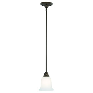 Concord Oil Rubbed Bronze One-Light Mini Pendant with Etched White Glass